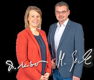 Michael Gesche und Maria Neuber nebeneinander